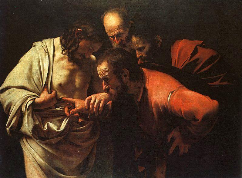 Caravaggio - The Incredulity of Saint Thomas (ca. 1602)