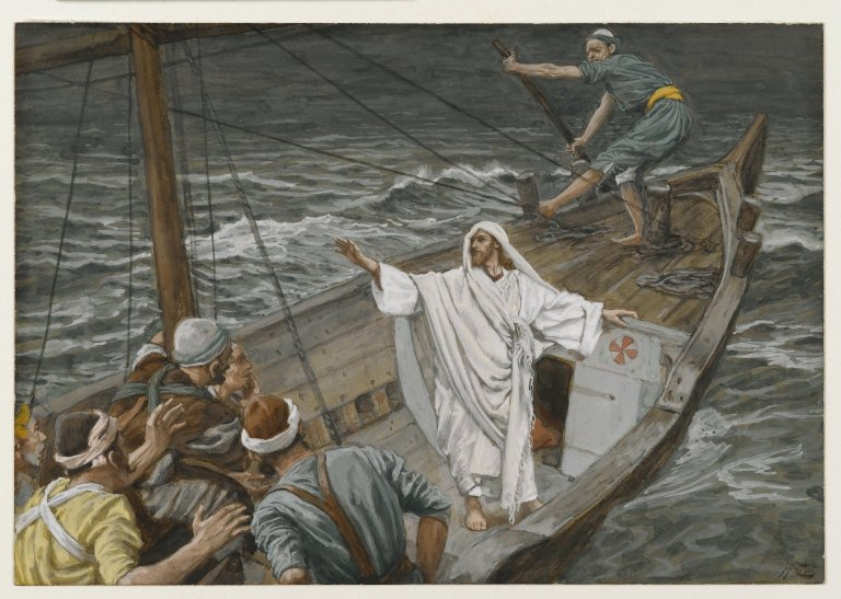 James Tissot, Jesus Stilling the Tempest (ca. 1890)