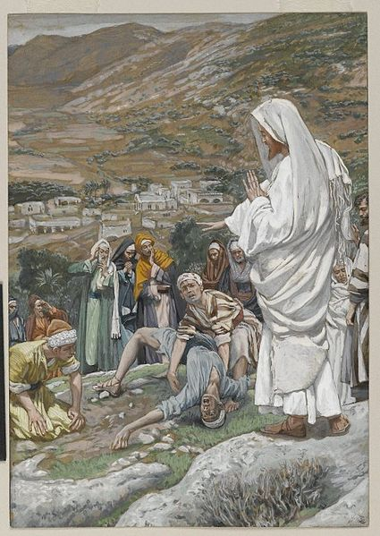 James Tissot, The Possessed Boy at the Foot of Mount Tabor (ca. 1890)