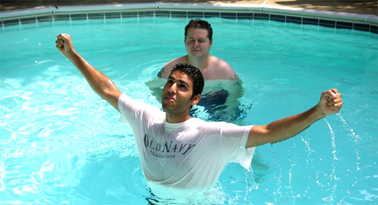Nabeel Qureshi being baptized by David Wood