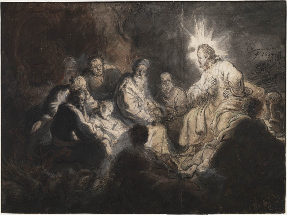 Rembrandt, Jesus and his Disciples (1633)
